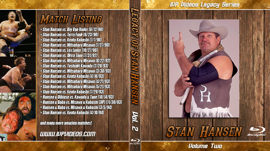 Best of Stan Hansen V.2 (Blu-Ray with Cover Art)